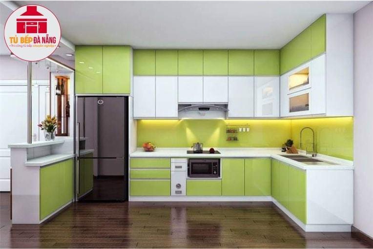 Tủ bếp gỗ Acrylic mang vẻ đẹp sang trọng, tinh tế