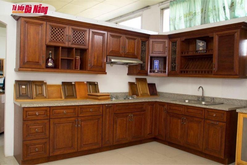 Tủ bếp gỗ óc cho , một loại tủ bếp gỗ tự nhiên được ưa chuộng